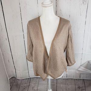 New Alfani Drape Front Open Cardigan Sweater